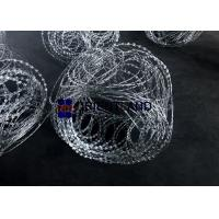 China 14-16m Flat Wrap Razor Wire Coils , Topping Flat Prison Razor Wire Barrier on sale