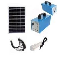 China 2 LED Bulbs Portable Solar Power Generator 10W For Home With 5AH Battery on sale