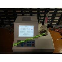Lubricant water content measurement , insulating transformer oil Karl Fischer moisture tester, oil testing kit Manufactures