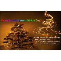 Decorative 10m Led Outdoor String Lighting Yellow For Christmas Tree Manufactures