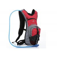 Red Nylon & Dacron Cycling Water Pack , 2L Hydration Backpack For Hiking Manufactures
