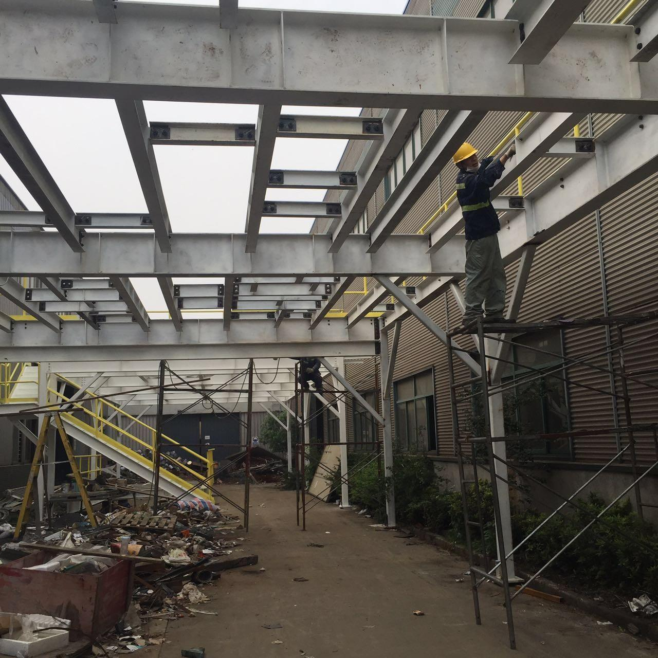 Warehouse Platform Fabricated Multi Storey Steel Buildings Fire Resistance High Strength Manufactures