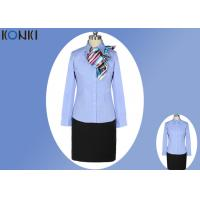 Simple Durable Long Sleeve Blue Office Uniform For Office Wear Manufactures