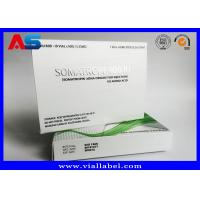 Paper Medicine Packaging Box Silver Foil Metallic For Hgh Injections Growth Hormone Manufactures