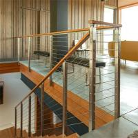 Steel Post Supports Stainless Steel Balustrade Posts for Wire Railing System Manufactures