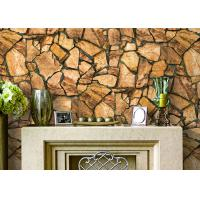 3D Effect Stone Pattern Durable Popular Wallpaper For House Wall With Pvc Material Manufactures