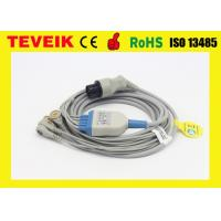 China Round 6pin 5 Leads ECG Cable For Mindray/BCI/CSI/Goldway/Nellcor/Nihon/Kohden/Burdick on sale