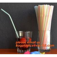 China PP plastic red and white stripe straight drinking straw,manufacturer wholesale cheap custom disposable clear PP plastic on sale