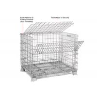 China Multi Function Mesh Storage Cage Metal Cage Bins Strong Reinforced Design for sale