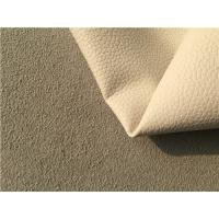 China Brown Leather Car Upholstery Fabric With 15% Cotton And 15% Polyester wholesale