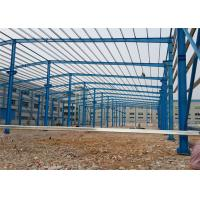 Pre Built Steel Warehouse Construction , Portal Structure Warehouse Steel Frame Manufactures