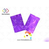Mylar Ziplock Aluminum Foil Bags CMYK Printing With Customized Thickness Manufactures