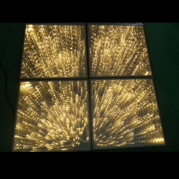 Quality Wonderful LED Light Dance Floor , Tempered Glass 3D Spark Starlight Dance Floor for sale