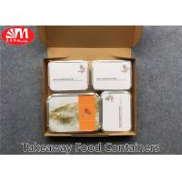 Quality Recyclable Aluminium Foil Takeaway Food Containers Safe Material 4 Compartments for sale