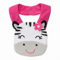 Little Zebra Teething Bib, 83% Cotton, 17% Polyester Fabric with Protective Water Barrier in 3-layer Manufactures