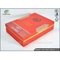 Red Luxury Convenient Packaging Cardboard Gift Boxes With Lid For Tea Manufactures