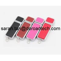 China Leather USB Flash Drive, High Quality Free Logo Printing Leather USB Pen Drive on sale
