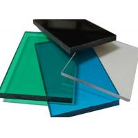 Recycled Impact Resistant Polycarbonate Sheet, Compact Clear Flat Roof Panels Manufactures