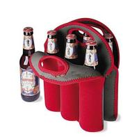 Polyester Insulated Beer Bottle Cooler Bag With Custom Logo Red Wine Case Manufactures