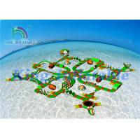 Lake Sea Floating Obstacle Course / Inflatable Water Park Games For Resort