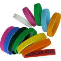 Fashional 210 * 12 * 2MM colorful silk screen printed sports silicone bracelets Manufactures