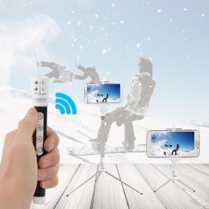 Wireless Bluetooth Monopod Selfie Stick Self Portrait Video Built-in Remote Shutter Button Manufactures