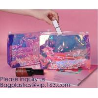 Promotional EVA cosmetic pouch bag with a rubber handle,eco friendly transparent BSCI women EVA cosmetic bag, bagease Manufactures