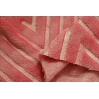China Pink Wool Flannel Fabric , Organic Cotton Flannel Fabric 160cm Width on sale