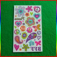 China water transfer temporary tattoo, Hot sale temporary Body Color world tattoo sticker on sale
