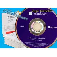 China Online Activation Windows 10 Pro Oem Pack , Windows 10 Home Oem DVD Box key on sale