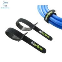 China Easy Wrapping Reusable Cable Ties , 100% Nylon Hook And Loop Cable Ties With Logo Custom on sale