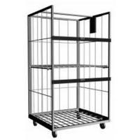 Chassis With Wire Grid Deck of Wire Security Cages With Swivel Caster For Order Picking