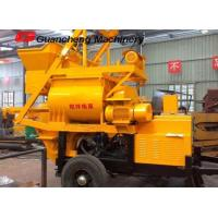 China Mini Concrete Mixer Pump with ISO9001 certification ,  twin shaft concrete mixer and pump on sale