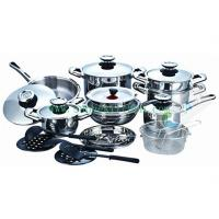 China saucepan and frying basket,25Pcs Stainless steel cookware set SHXM1032BS on sale