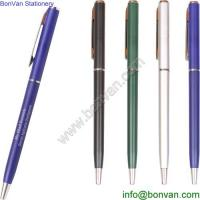 China Promotional ball pen for gift, aluminium ball pen gift twist function printed pen on sale