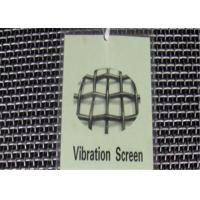 China Plain Weave Crimped Wire Mesh For Sieving Vibrating Screen High Tensile Strength on sale