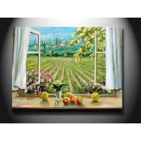China Fashion Realistic Window Scenery Hand made canvas Oil Painting mcfj1004 on sale