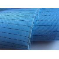 Plain Dyed Esd Fabric Thousands Colors Poly Grid Or Strip Shrink Resistant Manufactures
