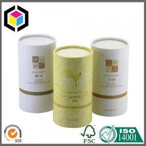 Gold Logo Print Cardboard Cosmetic Tubes; Custom Color Print Tea Paper Tubes Manufactures