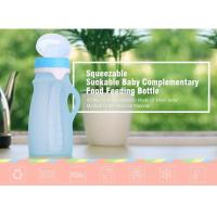 Non-Toxic Foldable Light Weight FDA Approved 250 OZ Silicone Feeding Bottle For Outdoor Travellers for sale