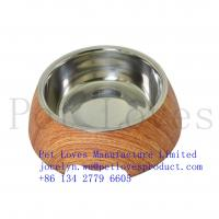 China Wholesale Low Price Melamine Non-skid Stainless Non Spill Pet Feeder Bowl Good Fashion Colorful Dog Bowl on sale