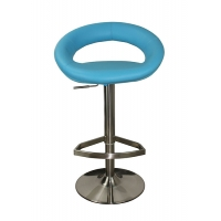 China Stainless Steel kitchen High quality blue leather bar stool 105CM tall leather bar stools BC-112 on sale