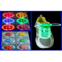 Bright Colored Night Running Flat LED Flashing Shoelaces For Children / Adult Manufactures