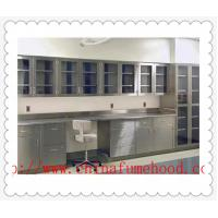 China Cutomized Stainless Steel Lab Desk  C  /  H Frame With Epoxy Resin Sink on sale
