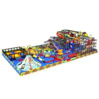 China Colorful Kids Indoor Playground Slide Equipment With Trampoline KPT180301T5 on sale