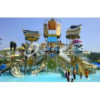 Customized Childrens Water Park Fiberglass Water Slides Entertains for Water Park Manufactures