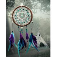 Antique Imitation Dreamcatcher Gift checking Dream Catcher Net With natural stone Feathers Wall Hanging Decoration Ornam Manufactures
