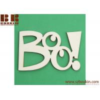 Unfinished Wood Laser Cut Boo! Cutout Wood Cutout Halloween craft and decorations Manufactures