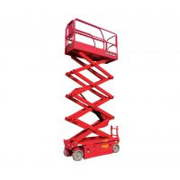 China 10m 32ft Height Lift CE Certified Self Propelled Electric Scissor Lift Long Life Time on sale