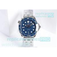 China OM Factory Omega Seamaster Diver 300m Blue Dial SS - Swiss 8800 Watch on sale
